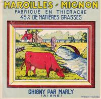 ÉTIQUETTE DE FROMAGE - MAROILLES ' MIGNON -CHIGNY - Cheese