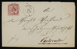 TREASURE HUNT [02011] Baden 1860s Front Cover Sent From Kehl To Karlsruhe Franked With 3kr Rose, Single Franking - Baden