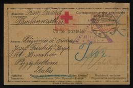 TREASURE HUNT [02052] Austria 1917 POW Post Card Sent To POW Camp Pizzighettone, Italy Bearing Wien Censorship Postmark - Storia Postale