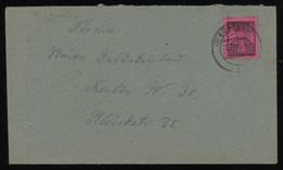 TREASURE HUNT [02055] SBZ Mecklenburg 1940s Cover Sent To Berlin Bearing 12 Pf Black On Rose Single Franking - Sowjetische Zone (SBZ)