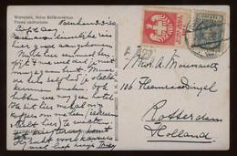TREASURE HUNT [02087] Poland 1920 Ill. Cover (Świętojańska Street) To Rotterdam, Netherlands Bearing 10f Red+20f Blue - Covers & Documents