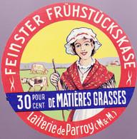 ÉTIQUETTE DE FROMAGE - PETIT FORMAT - FEINSTER FRUHSTUCKSKASE - LAITERIE DE PARROY - M&M - Cheese