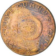 Monnaie, Turquie, 5 Kurus, 1960, TB, Bronze, KM:890.1 - Turkey