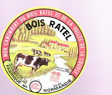 ÉTIQUETTE DE FROMAGE - MON CAMEMBERT DU BOIS RATEL  ET DE LA  VALLÉE DE LA COURSE - Cheese