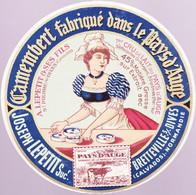 ÉTIQUETTE DE FROMAGE - CAMEMBERT  - JOSEPH LEPETIT - FABRIQUÉ DANS LE PAYS D'AUGE - Cheese