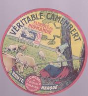 ÉTIQUETTE DE FROMAGE - VÉRITABLE CAMEMBERT  - FABRIQUÉ EN NORMANDIE - Cheese