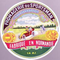 ÉTIQUETTE DE FROMAGE - FROMAGERIE DU SPORTSMAN - FABRIQUÉ EN NORMANDIE 14 A.I. - Cheese