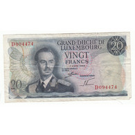 LUXEMBOURG 20 FRANCS 1966 - Luxembourg