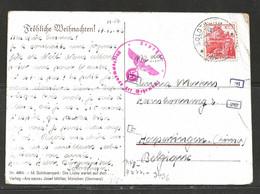 SOLOTHURN-HELVETIA-VERS-HOEPERTINGEN-1942-CARTE-POSTALE-ECRITE-CACHET-GEPRUFT-OBERCOMMANDO DER WEHRMACHT-2 SCANS - Briefe U. Dokumente