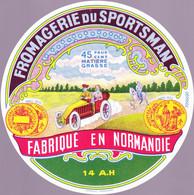 ÉTIQUETTE DE FROMAGE - FROMAGERIE DU SPORTSMAN - FABRIQUÉ EN NORMANDIE  14 A.H.. - Cheese