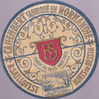 ÉTIQUETTE DE FROMAGE - CAMEMBERT FABRIQUÉ EN NORMANDIE B.SAILLOFEST - Cheese