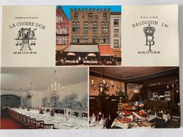 CP. 60 Bruges - Restaurant La Civière D'Or & Salons Baudoin Ier - Hotels & Restaurants