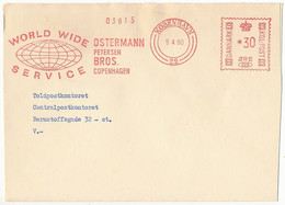 EMA Meter Slogan Commercial Cover Hasler / Ostermann Petersen Bros - 9 April 1960 København 22 - Cartas