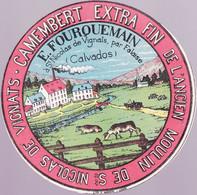ÉTIQUETTE DE FROMAGE - CAMEMBERT E. FOURQUEMAIN - SAINT NICOLAS DE VIGNATS - ANCIEN MOULIN - Cheese