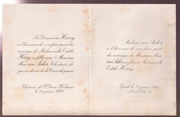 ADEL NOBLESSE = MARIAGE  EDITH HERRY  AVEC MAX Van  ACKER  1921 - Wedding