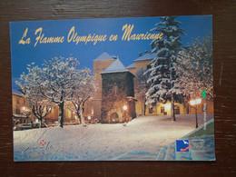 Saint-jean-de-maurienne , 55eme étape De La Flamme Olympique 6 Février 1992 - Saint Jean De Maurienne