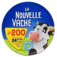 """ETIQUETTE FROMAGE LABEL CHEESE """" La Nouvelle Vache """" KÄSE 24 Portions Etiquettes Labels Käse-Etiketten Käse-Etikett - Cheese"""