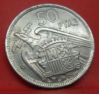 50 Pesetas 1957 étoile 59 - TTB - Ancienne Pièce De Monnaie Espagne Collection - N21026 - 50 Pesetas
