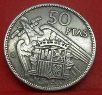 50 Pesetas 1957 étoile 60 - TB+ - Ancienne Pièce De Monnaie Espagne Collection - N21027 - 50 Pesetas