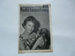 MAGAZINE DE RADIO LUXEMBOURG - DURATON - JEAN CARMET - 1900 - 1949