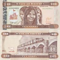 ERITREA 10 Nakfa 2012 P 11 UNC - Eritrea