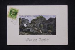 ALLEMAGNE / BAVIERE / WEIMAR - Affranchissement Surchargé De Landstuhl Sur Carte Postale - L 106287 - Briefe U. Dokumente