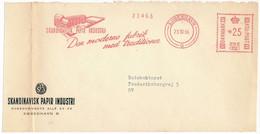 EMA Meter Slogan Commercial Cover Front Hasler / Skandinavisk Papir Industri - 23 October 1956 København Ø - Cartas