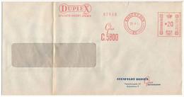 EMA Meter Slogan Commercial Cover Hasler / Duplex Shatterproof Glass - 29 April 1954 København 20 - Cartas