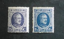 1922 : Cob 204** + 206**  Houyoux ( Sans Charnière D10 ) Voir Verso - 1922-1927 Houyoux