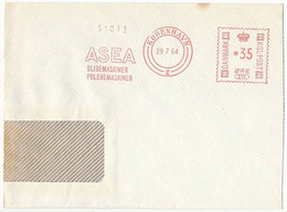 EMA Meter Slogan Commercial Cover Hasler / ASEA Grinders Polishing Machines Tools - 29 July 1964 København 2 - Cartas