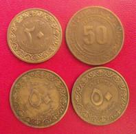 Algérie. Lot De 4 Pièces 20 & 50 Centimes 1964-1973 - Algeria