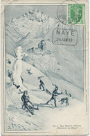 CARTE POSTALE 1909 AVEC CACHET RECTANGULAIRE DE NAYE - Storia Postale