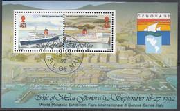 ISLE OF MAN Block 18, Gestempelt, GENOVA '92 - Man (Ile De)