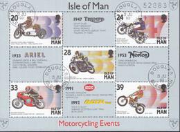 ISLE OF MAN  Block 19, Gestempelt, Motorradsport, 1993 - Man (Ile De)