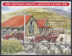 ISLE OF MAN  Block 22, Gestempelt, 100 Jahre Snaefell Mountain Railway, 1995 - Man (Ile De)