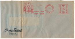 EMA Meter Slogan Commercial Cover Hasler / Bang & Pingel - 27 November 1954 København V - Cartas