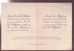 ADEL - NAZARETH 23 AOUT 1921    ALICE VAN BELLEGHEM EN OSCAR BEYLS - Wedding