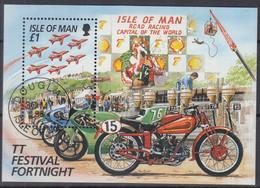 ISLE OF MAN  Block 26, Gestempelt, Erfolgreiche Irische Teilnehmer An Tourist-Trophy-Motorradrennen, 1996 - Man (Ile De)