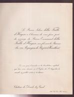 ADEL -  CHATEAU DEURLE 1923 - BARON E.della FAILLE AVEC BARONNE ALICE Van REYNEGOM De BUZET Et HERENTHOUT - Wedding