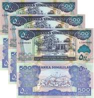 SOMALIA SOMALILAND 500 Shillings 2011 P 6 H UNC X 3 Banknotes - Somalia