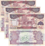 SOMALIA SOMALILAND 1000 Shillings 2014 P 20 C UNC X 3 Banknotes - Somalia