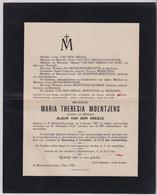 WED.KUNSTSCHILDER ALBIJN VAN DEN ABEELE - MARIA MOENTJES ST.MARTENS LATEM 1853    1929 - Obituary Notices