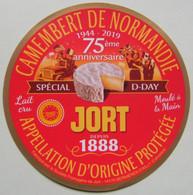 Etiquette Camembert - Spécial D-Day JORT - Laiterie Fromagerie De Bernières-d'Ailly 14 Normandie - Calvados    A Voir ! - Cheese