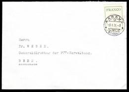 SCHWEIZ, 1943 FRANCO Zettel, Nr. 4 Auf Brief - Ohne Zuordnung