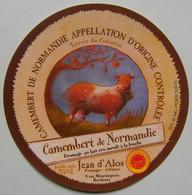 Etiquette Camembert - Terroir Du Cotentin - Jean D'Alos Affineur à Bordeaux 33 - Normandie   A Voir ! - Cheese