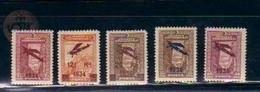 1934 TURKEY SURCHARGED AIRMAIL STAMPS MNH ** - Ungebraucht
