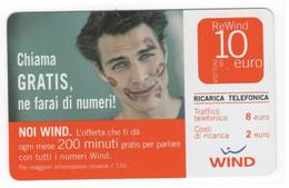 Ricarica WIND NOI WIND Chiama Gratis, Ne Farai Di Numeri, Taglio 10,00 Euro, Scad. 30/06/2009, Usata, Vedi Retro - [2] Sim Cards, Prepaid & Refills