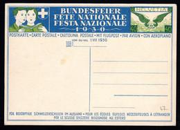SCHWEIZ, Bundesfeierpostkarte 1930, Ungebraucht - Cartas