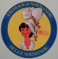 Etiquette Fromage - Belle Normande - Fromagerie ELLE&VIRE à Coutances 50-Z Export - Normandie   A Voir ! - Cheese