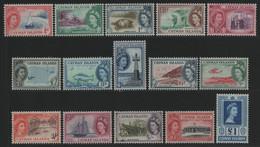 Kaiman-Inseln 1953 - Mi-Nr. 136-150 ** - MNH - Queen Elizabeth - Kaaiman Eilanden